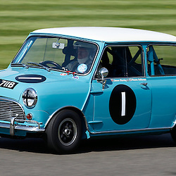GOODWOOD REVIVAL.....Rauno Aaltonen in a 1964 Austin Mini Cooper S in the official practice for the St. Mary's Trophy ..(c) STEPHEN LAWSON | SportPix.org.uk