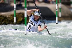Ana Satila of Brazil during the Canoe Single (WK1) Womens Semi Final race of 2019 ICF Canoe Slalom World Cup 4, on June 28, 2019 in Tacen, Ljubljana, Slovenia. Photo by Sasa Pahic Szabo / Sportida