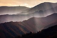 Mountain ridges at autumn time