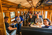 On the Taieri Gorge Railway, Dunedin, Otago, South Island, New Zealand with REI Adventures
