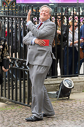 © Licensed to London News Pictures. 07/06/2017.  London, UK. STEPHEN FRY attends the Memorial Service of RONNIE CORBETT at Westminster Abbey. The entertainer, comedian, actor, writer, and broadcaster was best known for his long association with Ronnie Barker in the BBC television comedy sketch show The Two Ronnies. Photo credit: Ray Tang/LNP