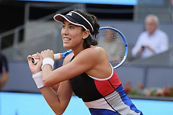 May 9, 2018 - Madrid, Spain - Garbine Muguruza of Spain in action during her match against Daria Kasatkina of Russia during day five of the Mutua Madrid Open at La Caja Magica on May 9, 2018 in Madrid, Spain. (Credit Image: © Oscar Gonzalez/NurPhoto via ZUMA Press)
