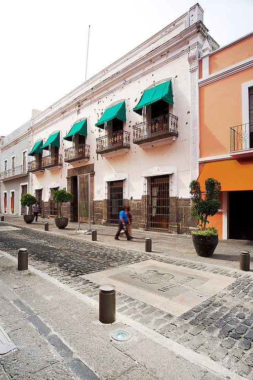 The historic Casa de los hermanos Serdán in Puebla, México.