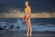 GOLD COAST, AUSTRALIA - SEPTEMBER 02:  Australian Beach handball player Rosalie Boyd poses during a portrait session on Froggy Beach on September 2, 2013 on the Gold Coast, Australia.  (Photo by Matt Roberts/Getty Images)