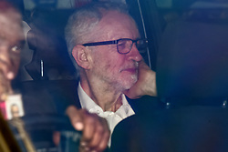 © Licensed to London News Pictures. 26/03/2019. London, UK. JEREMY CORBYN is seen being driven from the Houses of Parliament in London. MPs have passed an amendment which gives Parliament a series of indicative votes on alternatives to Prime Minister Theresa May's Brexit deal. Photo credit: Ben Cawthra/LNP
