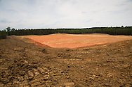May, 26, 2014, Wilkinson County, MS, A pad site being prepared for hydraulic fracturing in the Tuscaloosa shale region where exploratory wells are being built and utilized Louisiana and Mississippi.