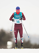 PYEONGCHANG-GUN, SOUTH KOREA - FEBRUARY 11: Denis Spitsov of Olympic Athletes of Russia during the Mens Skiathlon 15km+15km Cross-Country Skiing on day two of the PyeongChang 2018 Winter Olympic Games  at Alpensia Cross-Country Centre on February 11 in Pyeongchang-gun, South Korea. Photo by Nils Petter Nilsson/Ombrello               ***BETALBILD***