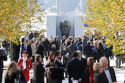 The Franklin D. Roosevelt Four Freedoms Park dedication ceremony, Wednesday, Oct. 17, 2012, on Roosevelt Island in New York.