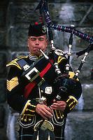 Bagpiper, 70th Highlanders, Halifax Citadel National Historic Site, Halifax, Nova Scotia, Canada