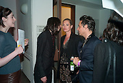 BOBBY GILLESPIE; KATE MOSS; JAMIE HINCE, Art Plus Music Party 2010. Whitechapel art Gallery.  To raise money for the gallery';s education and community programme. 22 April 2010.