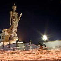 Buddhist Candle Procession at Phuttamonton in Nakorn Pathom, Thailand
