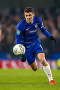 Chelsea midfielder Mateo Kavacic (17) on the ball during the EFL Cup semi final second leg match between Chelsea and Tottenham Hotspur at Stamford Bridge, London, England on 24 January 2019.