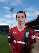 Paul McGinn wears Dundee's Black Watch inspired 3rd kit ahead of the home match against Ross County - Dundee will wear the kit for the first time to commemorate the 100th Anniversary of the Battle of Loos, during which hundreds of Black Watch soldiers died<br /> <br />  - &copy; David Young - www.davidyoungphoto.co.uk - email: davidyoungphoto@gmail.com