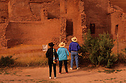 Image of tourists viewing Antelope House Ruin at Canyon de Chelly National Monument, Arizona, American Southwest