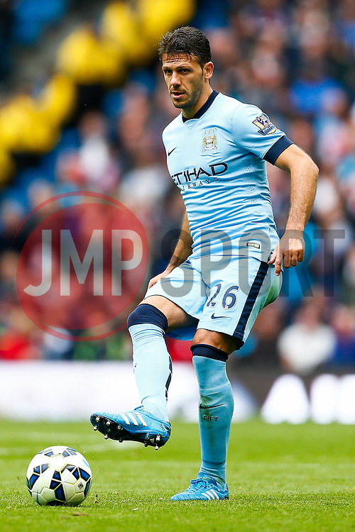 Martin Demichelis of Manchester City in action - Photo mandatory by-line: Rogan Thomson/JMP - 07966 386802 - 30/08/2014 - SPORT - FOOTBALL - Manchester, England - Etihad Stadium - Manchester City v Stoke City - Barclays Premier League.