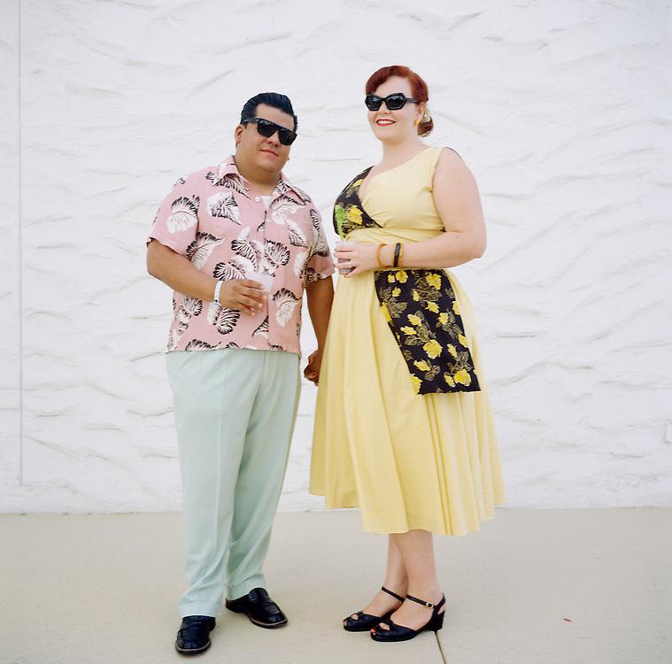 Viva Las Vegas Rockabilly Weekender: Karrisa (right) and Javier from .Claremont, California.