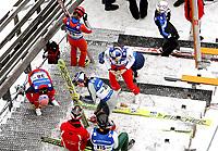 Hopp FIS World Cup<br /> 10.02.2010<br /> Bad Mitterndorf Østerrike<br /> Foto: Gepa/Digitalsport<br /> NORWAY ONLY<br /> <br /> FIS Weltcup Kulm. Bild zeigt Andreas Kofler, Gregor Schlierenzauer, Thomas Morgenstern (AUT), Janne Ahonen (FIN) und Bjørn Einar Romøren (NOR).
