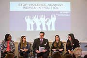 Session 5: HOW WOMEN IN PARTY YOUTH WINGS ARE AFFECTED 'Violence Against Women in Politics' Conference, organised by all the UK political parties in partnership with the Westminster Foundation for Democracy, 19th and 20th of March 2018, central London, UK.  (Please credit any image use with: © Andy Aitchison / WFD