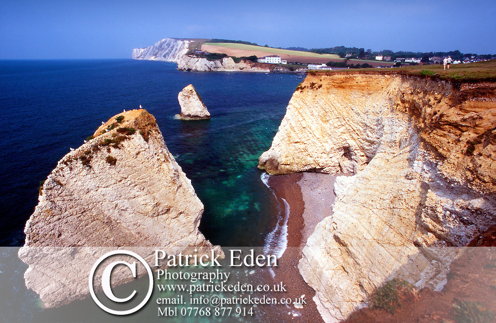 Freshwater Bay. Sea Stacks and wave cut platform Photographs of the Isle of Wight by photographer Patrick Eden photography photograph canvas canvases