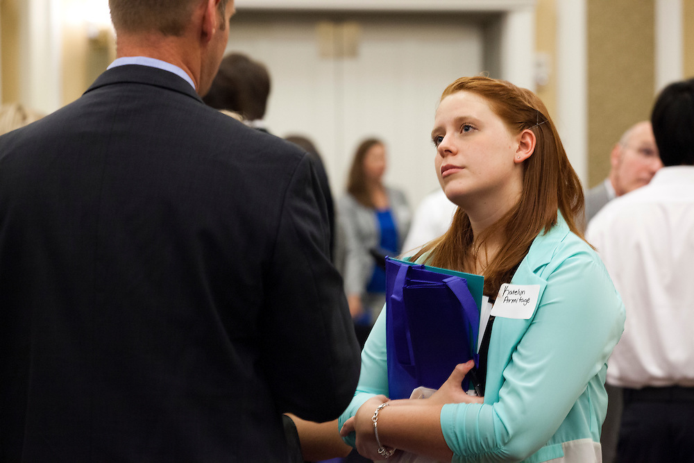 Student Katelyn Armitage at Meet the Accountants Night at Baker Ballroom on September 12, 2013.