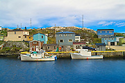 colorful houses in coastal village<br /> Rose Blanche<br /> Newfoundland & Labrador<br /> Canada