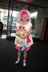 GRAYSON PERRY at the opening of 'The House of Viktor & Rolf' an exhibtion of designs by Viktor & Rolf held at The Barbican Art Gallery, Silk Sytreet, London on 17th June 2008.<br />