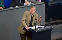 DEU, Deutschland, Germany, Berlin, 15.03.2018: Armin Paul Hampel, Alternative für Deutschland (AfD), bei einer Rede im Deutschen Bundestag.