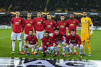 Football - 2019 / 2020 UEFA Europa League - Round of Thirty-Two, First Leg: Club Bruges vs. Manchester United<br /> <br /> The Manchester United starting line up pose for the team picture ahead of kick off at Jan Breydel Stadium.<br /> <br /> COLORSPORT/DANIEL BEARHAM