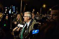 """Roma 21 Novembre 2014<br /> Manifestazione contro prostituzione e degrado all' EUR, organizzata dal comitato di quartiere """"Ripartiamo dall'Eur"""" e dall'associazione commercianti della zona. La manifestazione è stata indetta per chiedere un intervento dalle istituzioni sulla prostituzione e il degrado nel quartiere. Mario Borghezio eurodeputato della Lega Nord, contestato da una partecipante al corteo<br /> Rome November 21, 2014<br /> Demonstration against prostitution and degradation in the EUR district, organized by the neighborhood committee, and by the traders in the area The demonstration was called to request assistance from the institutions against prostitution and degradation in the neighborhood. Northern League MEP Mario Borghezio, contested by a participant in the protest."""