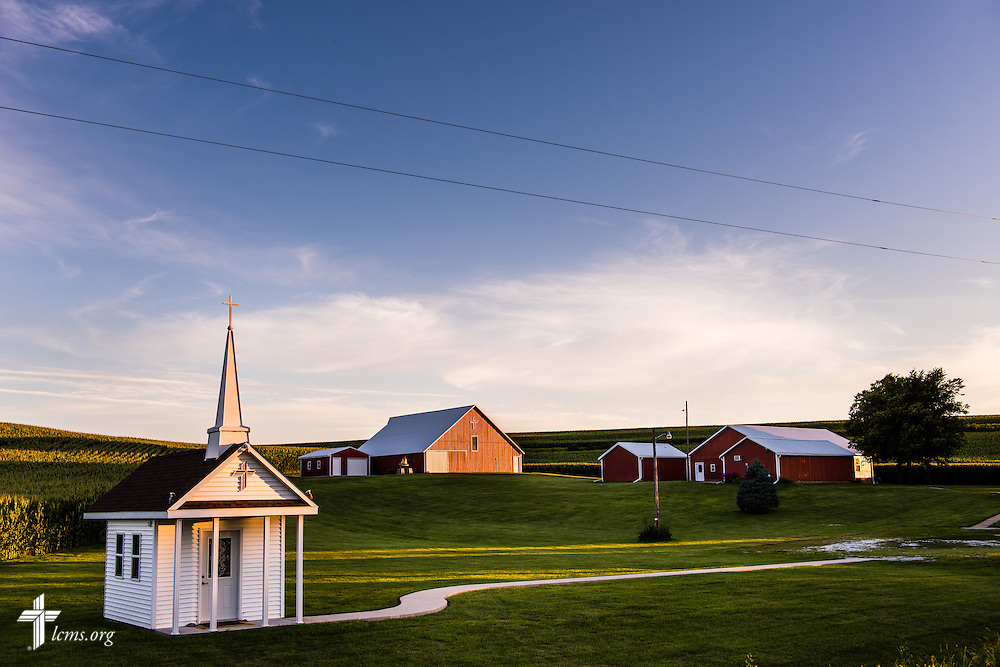 The sun sets over the Mission Central campus on Saturday, July 18, 2015, in Mapleton, Iowa. LCMS Communications/Erik M. Lunsford