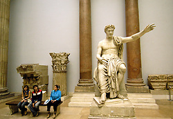 Large sculpture inside famous Pergamon Museum in Berlin
