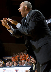 Virginia head coach Dave Leitao..The #23 Virginia Cavaliers men's basketball team faced the Drexel Dragons  at the John Paul Jones Arena in Charlottesville, VA on November 20, 2007.
