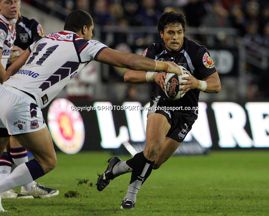 Warriors centre Jerome Ropati. NRL, rugby league, Vodafone Warriors v Roosters, Mt Smart Stadium, Auckland, Sunday 25 May 2008. Photo: Renee McKay/PHOTOSPORT