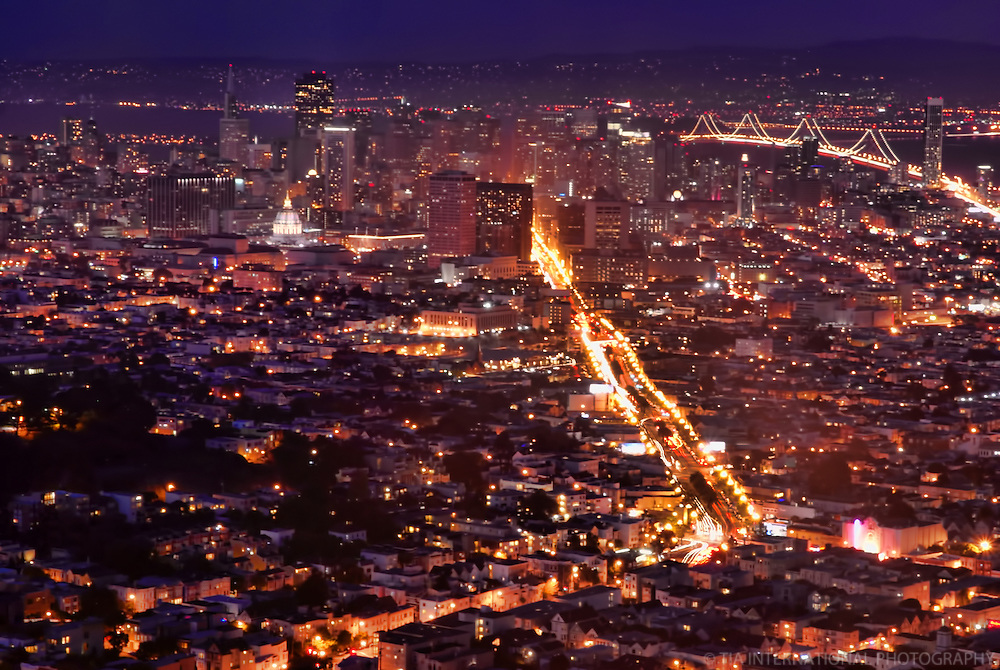 San Francisco from Twin Peaks @ Night