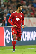 Bayern Munich midfielder Serge Gnabry (22) running down the wing during the Champions League match between Bayern Munich and Liverpool at the Allianz Arena, Munich, Germany, on 13 March 2019.