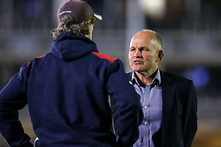 Bristol Rugby Director of Rugby Andy Robinson talks to Bristol Rugby Forwards Coach Mark Bakewell after a 22-6 loss - Rogan Thomson/JMP - 20/10/2016 - RUGBY UNION - The Recreation Ground - Bath, England - Bath Rugby v Bristol Rugby - EPCR Challenge Cup.
