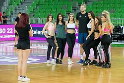 Jaka Blazic with Ladies during basketball match between Slovenia and Montenegro in Round #6 of FIBA Basketball World Cup 2019 European Qualifiers, on July 1, 2018 in Arena Stozice, Ljubljana, Slovenia. Photo by Ziga Zupan / Sportida