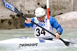 Dejan Kralj of KKK Ljubljana competes in the Men's Kayak K-1 at kayak & canoe slalom race on May 9, 2010 in Tacen, Ljubljana, Slovenia. (Photo by Vid Ponikvar / Sportida)