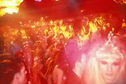 A crowded dancefloor, Ibiza, 1999.