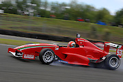 The Toyota Racing Series car of Switzerland's Raffaele Marciello locks a wheel during qualifying for the NZ Grand Prix at the Fujitsu 200 at Manfeild Autocourse on 11 February 2012. The Fujitsu 200 is part of the New Zealand Premier Race Championship Series.