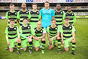 Forest Green Rovers before the Glos Senior Cup Final match between Forest Green Rovers and Bishops Cleeve at the New Lawn, Forest Green, United Kingdom on 2 May 2016. Photo by Shane Healey.