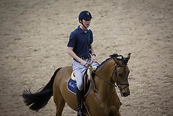 Verlooy Jos, (BEL), Domino <br /> Morning training session<br /> Longines FEI World Cup™ Jumping Final<br /> Las Vegas 2015<br />  © Hippo Foto - Dirk Caremans<br /> 16/04/15