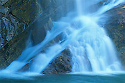 Cameron Falls. Waterton Lakes National Park<br /> Waterton Lakes National Park<br /> Alberta<br /> Canada