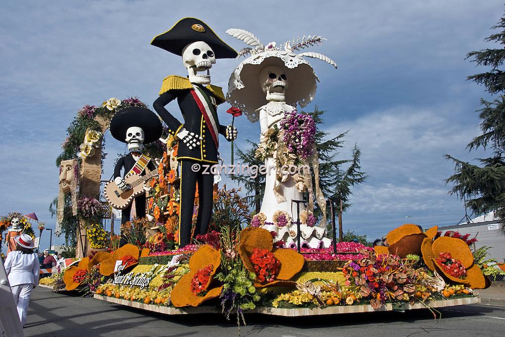 "Tournament of Roses Parade Floats Extraordinaire Trophy - 2008, ""Celebration of Life -Dia de Los Muertos"", City of Santa Fe Springs"