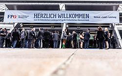 06.04.2019, Design Center, Linz, AUT, 34. Ordentlicher Landesparteitag der FPÖ Oberösterreich, im Bild Eingangsbereich // General View during the 34th Ordinary party convention of the FPÖ Upper Austria at the Design Center in Linz, Austria on 2019/04/06. EXPA Pictures © 2019, PhotoCredit: EXPA/ JFK