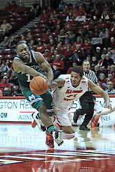 20 November 2013:  RaShawn Stores and michael middlebrooks  dive for a loose ball during an NCAA Non-Conference mens basketball game between theJaspers of Manhattan and the Illinois State Redbirds in Redbird Arena, Normal IL