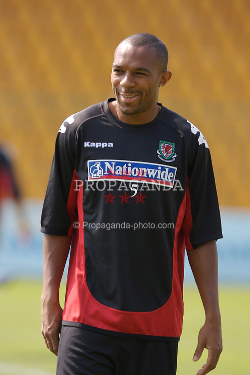 Borgass, Bulgaria - Tuesday, August 21, 2007: Wales' Danny Gabbidon training at the Naftex Stadium ahead of the friendly match against Bulgaria. (Photo by David Rawcliffe/Propaganda)