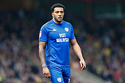Cardiff City midfielder Nathaniel Mendez-Laing (19) during the EFL Sky Bet Championship match between Norwich City and Cardiff City at Carrow Road, Norwich, England on 14 April 2018. Picture by Phil Chaplin.