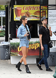 Brazilian supermodel Alessandra Ambrosio shows off her legs in jean shorts for Elle Italy photoshoot in Little Havana, Florida. 23 Jan 2019 Pictured: Alessandra Ambrosio. Photo credit: MEGA TheMegaAgency.com +1 888 505 6342