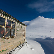 Jón Haukur Steingrímasson inside the Icelandic Alpine Club hut at Botnsúlur mountains.